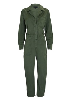 Veronica Beard Wren Stretch Cotton Boiler Jumpsuit