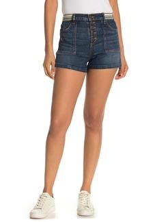Veronica Beard Zynan Stripe Denim Shorts