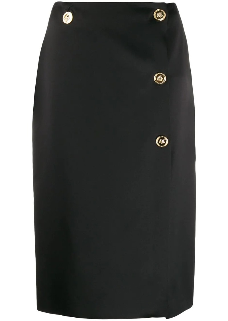 Versace Medusa detail pencil skirt