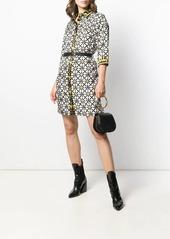 Versace belted print shirt dress