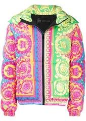 Versace baroque puffer jacket