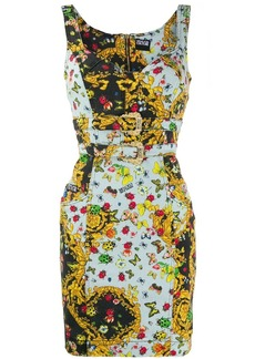 Versace Ladybug Baroque print dress
