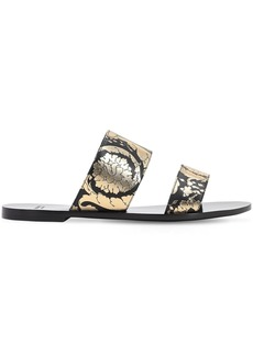 Versace 10mm Printed Leather Sandals