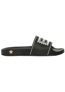 Versace 10mm Rubber Logo Slide Sandals