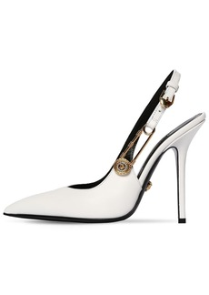Versace 110mm Leather Sling Back Pumps