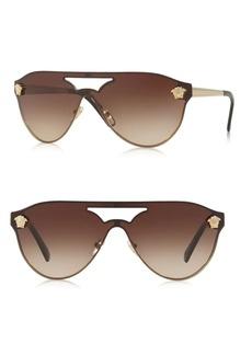 Versace 142MM Gradient Cutout Shield Sunglasses