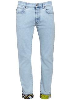 Versace 17.5cm American Dream Cotton Denim Jeans