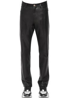 Versace 17cm Slim Fit Leather Pants