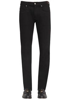 Versace 18.5cm Heart Stretch Cotton Denim Jeans