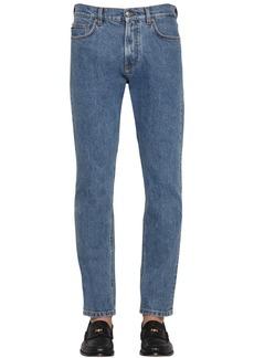 Versace 18.5cm Medusa Stretch Cotton Denim Jeans