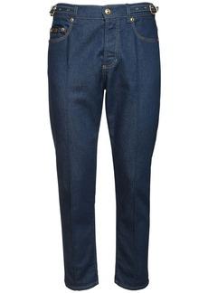 Versace 18cm Stretch Cotton Denim Jeans