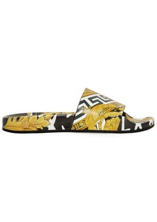 Versace 20mm Printed Rubber Slide Sandals