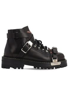 Versace 25mm Biker Leather Ankle Boots