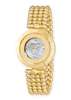 Versace 33mm Eon Reversible-Bezel Watch w/ Beaded Bracelet