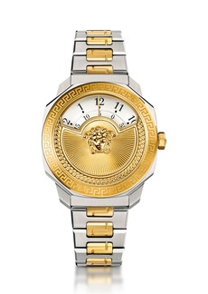 Versace 38mm Dylos Icon Rotating Disc Watch w/ Bracelet