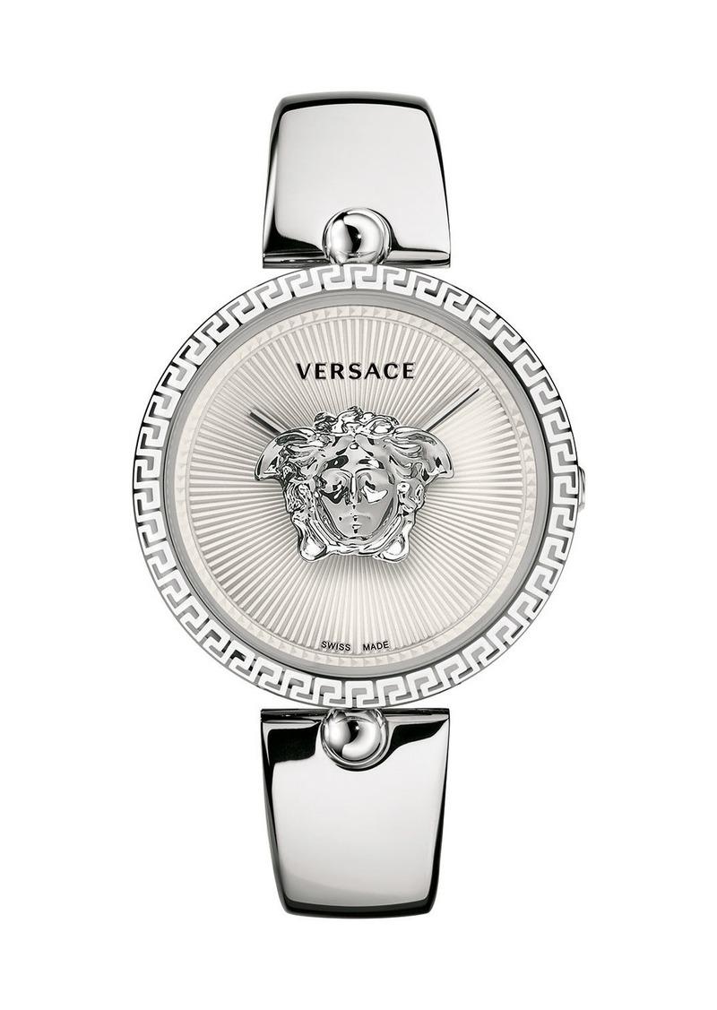 Versace 39mm Palazzo Empire Bangle Watch  White/Silver