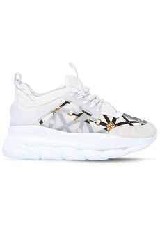 Versace 40mm Chain Reaction Satin Sneakers