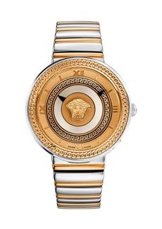 Versace 40mm V-Metal Icon Watch w/ Bracelet Strap