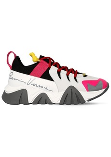 Versace 45mm Squalo Leather & Neoprene Sneakers