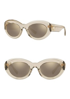 Versace 52mm Oval Sunglasses