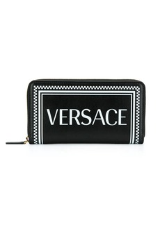 Versace 90s vintage logo continental wallet