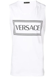 Versace 90s vintage logo tank top