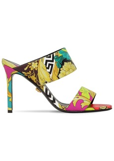 Versace 95mm Barocco Printed Leather Sandals