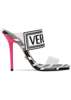 Versace 95mm Logo Pvc & Rubber Sandals