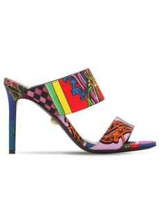 Versace 95mm Printed Cotton Canvas Sandals