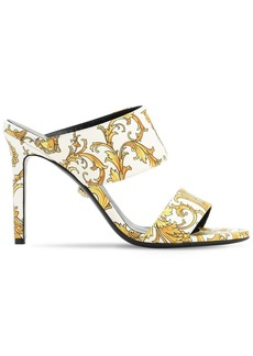 Versace 95mm Tribute Printed Leather Sandals