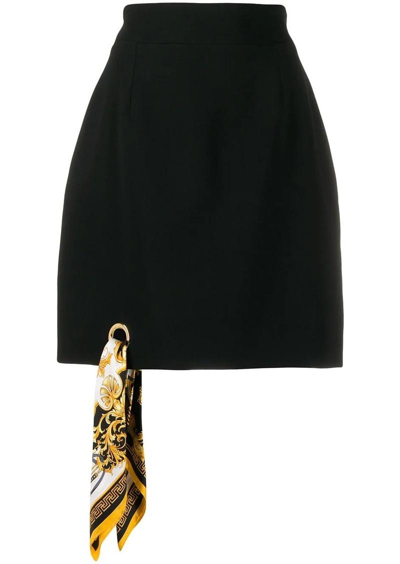 Versace A-line Barocco scarf skirt