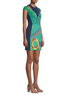 Versace Abito Donna Tesseto Printed Mini Dress