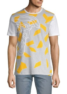 Versace Abstract Colorblock Graphic Tee