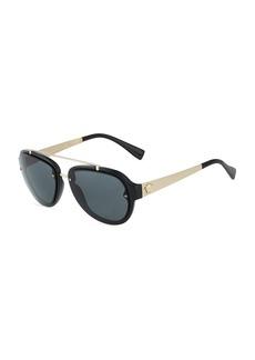 Versace Acetate/Metal Aviator Sunglasses
