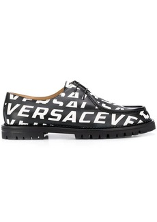 Versace all-over logo shoes