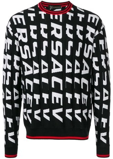 Versace all-over-print knit sweater
