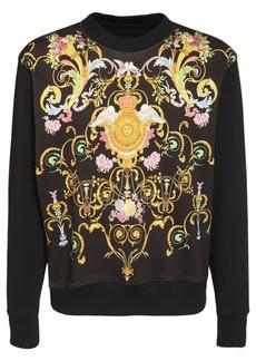 Versace Allover Printed Cotton Sweatshirt