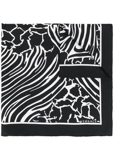 Versace animal print foulard