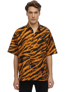Versace Animalier Cotton Short Sleeve Shirt