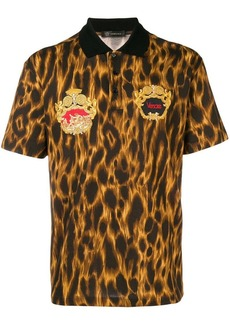Versace Animalier embroidered polo shirt