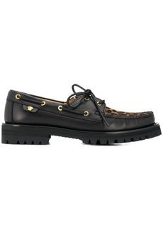 Versace Animalier motif boat shoes