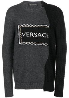 Versace asymmetric logo jumper