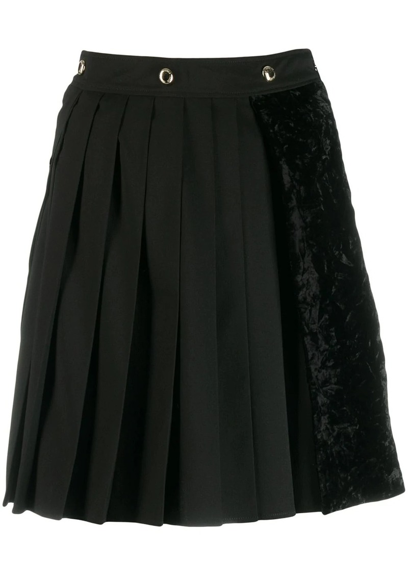 Versace asymmetric pleated skirt