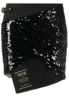 Versace asymmetric sequin skirt