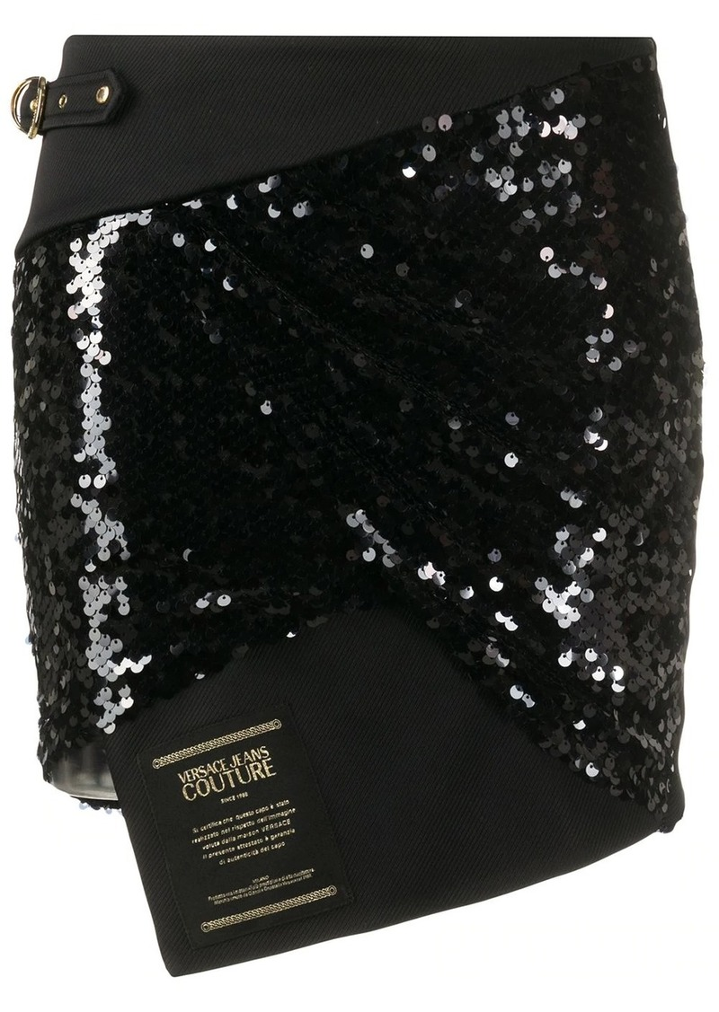 Versace asymmetric sequin skirt