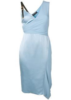 Versace asymmetric silk cocktail dress