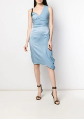 Versace asymmetric silk cocktail dress