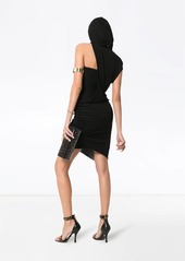 Versace asymmetric sleeve silk dress