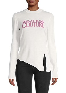 Versace Asymmetrical Wool Logo Top