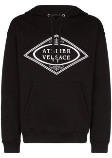 Versace Atelier logo print hoodie
